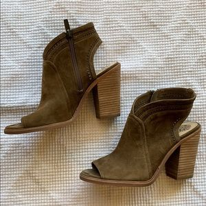 VINCE CAMUTO 'Koral' Perforated Open Toe Bootie